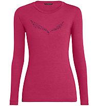 Salewa Solidlogo Dry - Longsleeve - Damen, Pink/Dark Pink