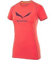 Salewa Solidlogo DRY T-Shirt Damen, Red