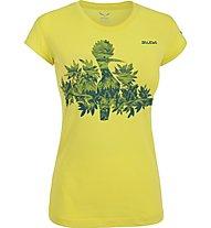 Salewa The Nugget T-shirt arrampicata donna, Mimosa