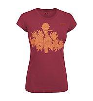 Salewa The Nugget T-shirt arrampicata donna, Velvet Red