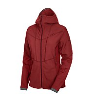 Salewa Tridentina PTC Full-Zip giacca con cappuccio donna, Velvet Red