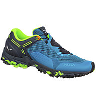 Salewa Ultra Train 2 - scarpe trail running - uomo, Light Blue/Black/Green