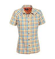 Salewa Valparola DRY - camicia a maniche corte trekking - donna, Yellow/Light Blue