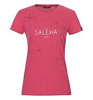 Salewa W Graphic 2 S/S - T-shirt - Damen, Pink/Red/White