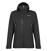 Salewa W Pelmo Convertible - giacca 2-in-1 con cappuccio - donna, Black