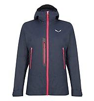 Salewa W Pelmo Convertible - giacca 2-in-1 con cappuccio - donna, Dark Blue