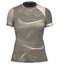 Salewa W Seceda S/S - T-shirt - Damen, Beige/Grey