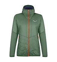 Salewa W Sternai Tirol Wool® JKT - giacca ibrida - donna, Dark Green