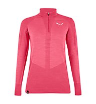 Salewa W Zebru Responsive 1/2 Zip - pullover con zip - donna, Pink