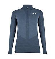 Salewa W Zebru Responsive 1/2 Zip - pullover con zip - donna, Dark Blue