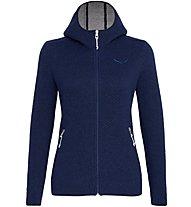 Salewa Woolen 2L - Strickjacke mit Kapuze - Damen, Dark Blue