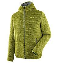 Salewa Woolen 2L - giacca con cappuccio - uomo, Green