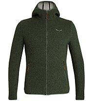 Salewa Woolen 2L - giacca con cappuccio - uomo, Dark Green