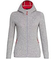 Salewa Woolen 2L - giacca trekking con cappuccio - donna, Grey