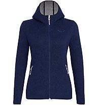 Salewa Woolen 2L - giacca trekking con cappuccio - donna, Dark Blue
