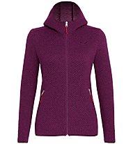 Salewa Woolen 2L - giacca trekking con cappuccio - donna, Violet