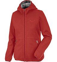 Salewa Woolen Light Wool - Strickjacke mit Kapuze - Damen, Red