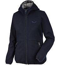 Salewa Woolen Light Wool - giacca in pile - donna, Blue