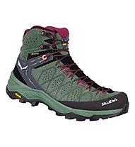 Salewa Ws Alp Trainer 2 Mid GTX - trekkingschuh - Damen, Green/Black