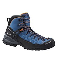 Salewa Alp Trainer Mid GORE-TEX Scarpe trekking donna, Washed Denim/Carrot