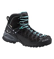 Salewa Alp Trainer Mid GORE-TEX Scarpe trekking donna, Black Out/Agata