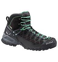 Salewa Alp Trainer Mid GTX - Wander- und Trekkingschuh - Damen, Black/Green