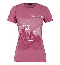 Salewa X-Alps W - T-shirt - donna, Dark Red/White