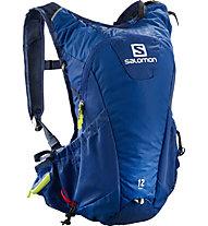 Salomon Agile 12 Set - Trailrunning-Rucksack 12 L, Blue/Green
