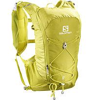 Salomon Agile 12 Set - zaino trail running, Yellow