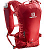 Salomon Agile 6 Set - zaino trail running, Red