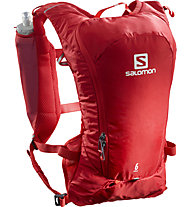 Salomon Agile 6 Set - Trailrunning-Rucksack 7 L, Red