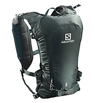 Salomon Agile 6 Set - Trailrunning-Rucksack 7 L, Dark Green