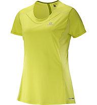 Salomon Agile SS Tee W - maglia running donna, Yellow