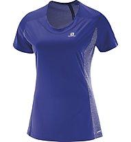 Salomon Agile SS Tee W - Trailrunningshirt Damen, Blue