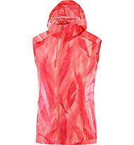 Salomon Agile Wind Vest W - Runningweste - Damen, Pink/White