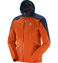 Salomon Bonatti WP Jkt M - giacca trail running, Orange/Blue