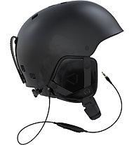 Salomon Brigade Audio - casco freeride/freestyle, Black
