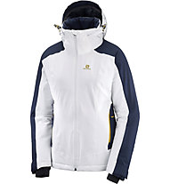 Salomon Brillant - giacca da sci - donna, White/Blue