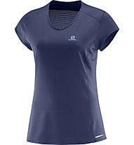 Salomon Comet Plus SS Tee - T-Shirt Damen, Blue