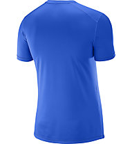 Salomon Cosmic Logo SS Tee M Herren Funktionsshirt kurzärmelig, Blue