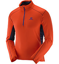 Salomon Maglia in pile Discovery Active HZ M, Vivid Orange/Big-Blue-X