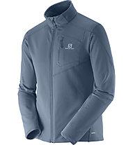 Salomon Discovery FZ Midlayer Jacke, Bleu Gris