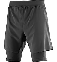 Salomon Exo Motion - kurze Laufhose - Herren, Black