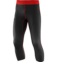 Salomon Exo Pro 3/4 Tight pantaloni running, Black/Matador