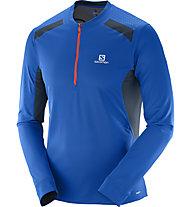Salomon Fast Wing LS Tee M - maglia running, Blue