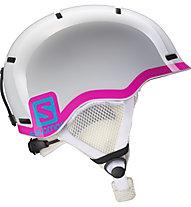 Salomon Grom Kinder-Skihelm, White Glossy/Pink