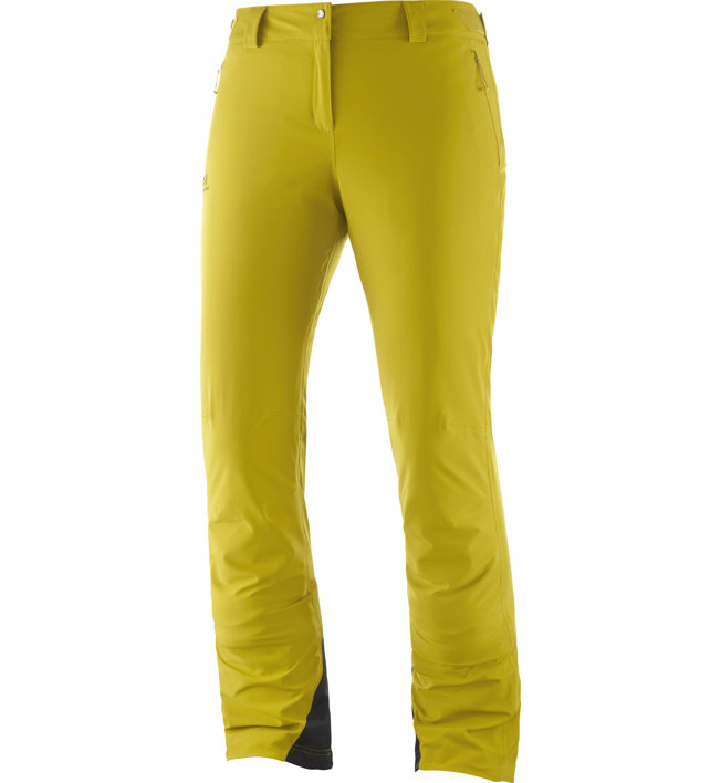 Salomon Icemania - pantaloni da sci - donna, Yellow