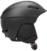 Salomon Icon2 C.Air - casco sci alpino - donna, Black