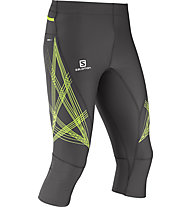 Salomon Intensity pantaloni 3/4 trail running, Galet Grey