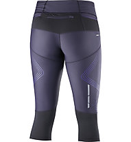 Salomon Intensity 3/4 Tight W - pantaloni running 3/4 donna, Grey